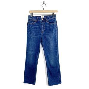 J. Crew Billie Demi Boot Crop Raw Hem Denim Jeans